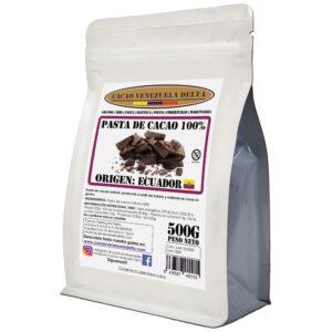 Pasta de cacao 100% - chocolate negro 100% - cacao 100% origen Ecuador
