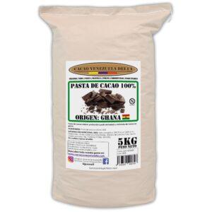 Pasta de cacao 100% - chocolate negro 100% - cacao 100% origen Ghana