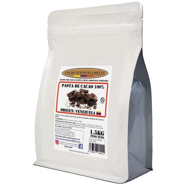 Pasta de cacao 100% - chocolate negro 100% - cacao 100% origen Venezuela