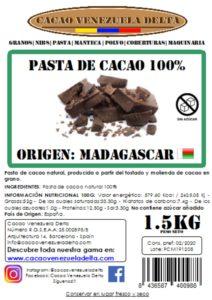 PASTA DE CACAO - MADAGASCAR - 1.5KG