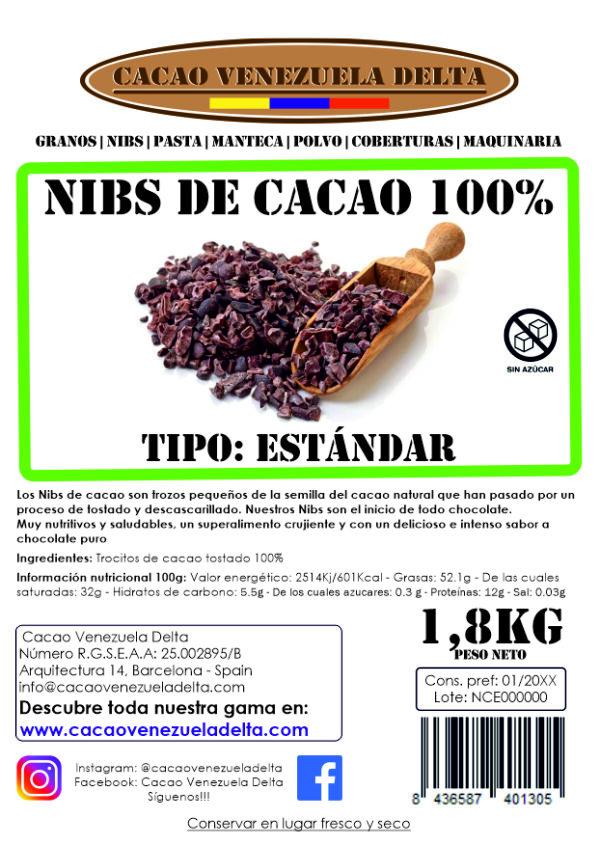 NIBS DE CACAO - ESTANDAR - 1,8KG