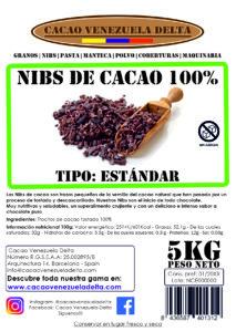 NIBS DE CACAO - ESTANDAR - 5KG