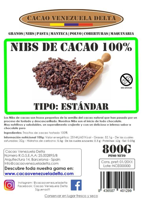 NIBS DE CACAO - ESTANDAR - 800G