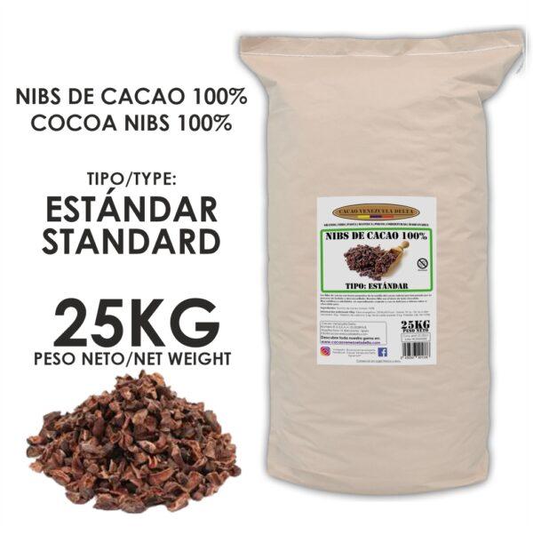 NIBS DE CACAO - ESTANDAR - 25KG
